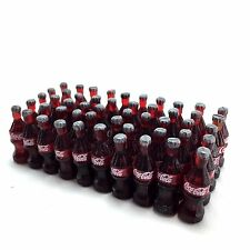 LOT 50 BOTTLES COCA COLA COKE COLLECTIVE DECORATE DOLLHOUSE MINIATURE