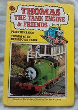Thomas The Tank Engine Percy Runs Away by Rev W. Awdry (Ladybird hardback, 1984)