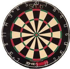 SHOT BANDIT PLUS DARTBOARD Steel Tip Bristle Dart Board