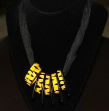 """Animal print 18"""" Vintage necklace from the 80's Haloween costume retro Jewelry"""