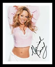 MARIAH CAREY AUTOGRAPHED SIGNED & FRAMED PP POSTER PHOTO 2