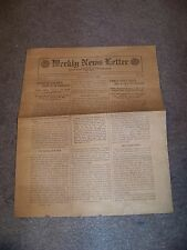 October 29, 1919 WEEKLY NEWS LETTER Department of Agriculture FAIR VALLEY FARM