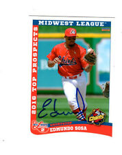 Edmundo Sosa 2016 Midwest League Top Prospects auto signed card Peoria Chiefs