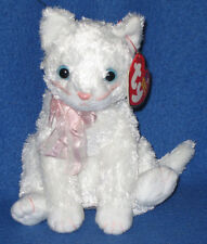 TY FANCY the WHITE CAT BEANIE BABY - MINT with MINT TAGS