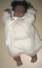 BEAUTIFUL Musical Porcelain AFRICAN AMERICAN Sleeping Doll, Head moves MINT