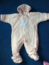 Girls Pink  Snow Suit Age 3-6 Months