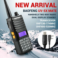 Baofeng UV-5X Mate 5 Watts Two Way Dual-Band HAM Radio VHF/UHF FM+Earpiece+Cable