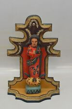 MARY, VIRGIN of CONCEPTION ON STAND GUATEMALAN FOLK ART