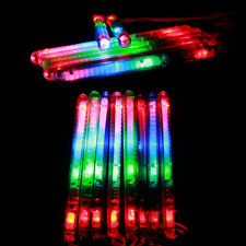 12PCS Light Up Foam Sticks LED Multi Color Flashing Rave Glow Baton Wands Decor