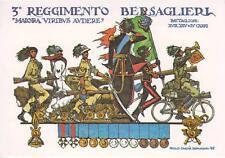 A6982) MILANO, 3 REGGIMENTO BERSAGLIERI. ILLUSTRATORE PAOLO CACCIA DOMINIONI.