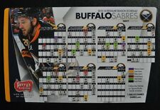 2015-16 Buffalo Sabres magnetic schedule Zemgus Girgensons In-game