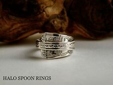 BEAUTIFUL EDWARDIAN SOLID SILVER SPOON RING 1907 *** THE PERFECT GIFT ***