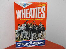 "VINTAGE WHEATIES BOX (EMPTY)  ""MINNESOTA TWINS""  WORLD CHAMPIONS......1987...#3"