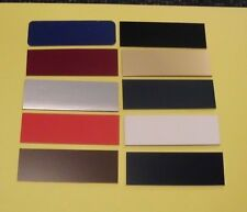 25 BLANK NAME BADGES TAGS PLATES PLASTIC YOU CHOOSE COLORS AND SIZES FREE SHIP