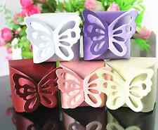 Beautiful Multicolor Butterfly Party Wedding Candy Bomboniere Boxes 10Pcs BEIGE