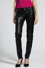 "NEW MISS SIXTY LEATHER LOOK LEDER LOLA SKINNY TROUSERS SIZE 14 WAIST 32"" LEG 32"""