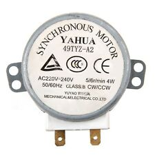 49TYZ-A2 AC 220-240V CW/CCW 4 W 5/6 RPM Synchronous Motor for Microwave Oven