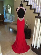 NWT RED JOVANI PROM/PAGEANT/FORMAL DRESS/GOWN #98048 SIZE 0
