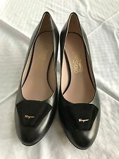 Salvatore Ferragamo Black Shoes Pumps Stiletto Heel, Size 9.5, NEW!