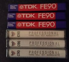 NEW SEALED x 7 Audio Cassette Tapes TDK PMD FE90