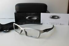 New OAKLEY Crosslink Pro Brushed Aluminum Grey Smoke RX Eyeglasses Sunglasses xx