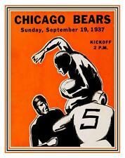 Chicago Bears  **LARGE POSTER** 1937 NFL Football - Bronko Nagurski Dan Fortmann