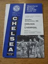 04/12/1965 Chelsea v Liverpool  (Team Changes). Item In very good condition unle