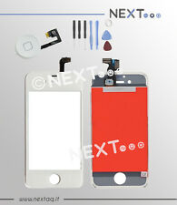 Touch screen vetro retina display frame iphone 5 bianco + kit riparazione