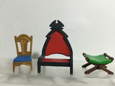 Playmobil Blue Gold Chair Royal Dinner And King / Queen Throne Lot