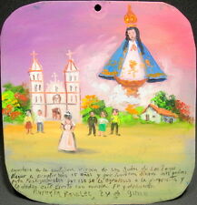 Mexican Retablo Exvoto for Lady of San Juan by Teen Thanking for Debutante Party
