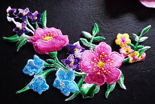 embroidered iron on applique large flower
