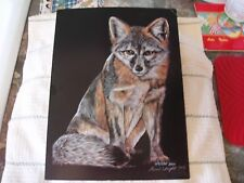 Scratchboard Art, Red Fox, Limited Edition, 49 / 500, Nanci Wright Signed 94