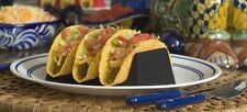 NEW Taco Holder Black Mealtime Dinner Eat Stackable Unbreakable Fits On Plate