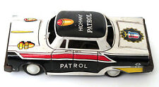 Vintage Antique Highway Patrol POLICE Friction Tin Toy Metal Car Japan MTH 60's