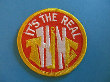 Vintage 70's Biker Vest Trucker Hat Hippie Jacket Patch It's The Real Thing A
