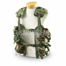 2 US Army Tactical Woodland Load Bearing Vest GI LBV Paintball Survivor