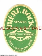 Scarce France Sevres Bock Biere Tavern Trove French Beer Label