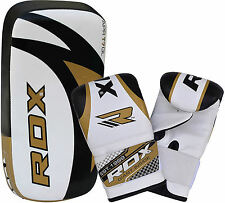 RDX Thai Kick Strike Curved Arm Pad Focus with Gel Bag Mitts MMA Boxing Gloves W