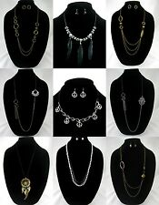New Lot of 9 Different Necklace & Earring Jewelry Sets NWT #N2500-N2509