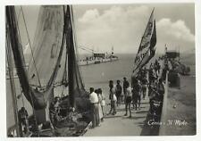 130697 bellissima cartolina con barca da pesca cervia il molo