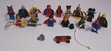Lego STAR WARS & MARVEL Lot of 15 Minifigs Wolverine Thor Darth Deadpool Superm