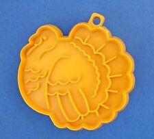 BUY1&GET1@50%~Hallmark COOKIE CUTTER Thanksgiving TURKEY GOLD Vtg 70s HARD