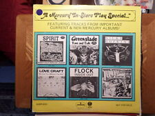 PROMO MERCURY LP RECORD/IN STORE PLAY SPECIAL/SPIRIT/FLOCK/LOVE CRAFT/GREENSLADE