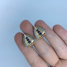 high quality, Turkish 925 silver amethyst handmade  Ottoman handmade earrings