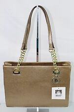 Anne Klein Time to Indulge Gold Tote Women Bag Medium Handbag