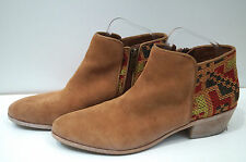 Sam Edelman tan suede & multi couleur broderie Bottines UK8; us10m
