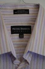 Michael Brandon Chemise Or Men's Shirt Size XL 17-17.5 Spread Collor Cotton