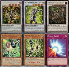 Yugioh Psy-Frame Deck - Zeta, Beta, Gamma, Thought Ruler Archfiend, Overmind