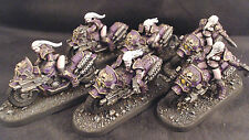 Warhammer 40k Chaos Space Marines Bikers Emperors Children Pro Painted
