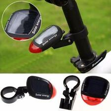 Solar Powered Taillight LED Rear Flashing Tail Light For Bicycle Cycling Lamp TR